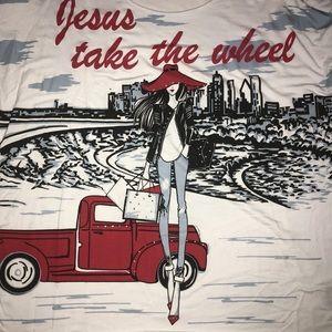 Jesus Take the Wheel Tunic by mesh+lace - Size XL